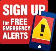 Sign up for free emergency alerts