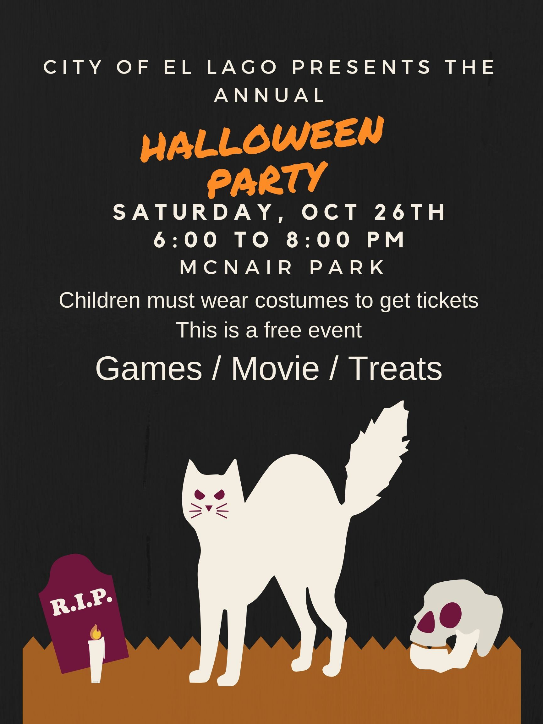 Halloween Party 2019 graphic